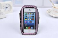 arms points - New fashion wave point armband for iPhone sports arm band case key slot case cover for iphone s high quality phone bags