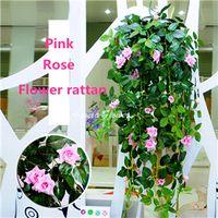 best flowering vines - Best Sale color the rose rattan hanging basket Simulation flower bracketplantsilk flower decorative flower for bedroom living room