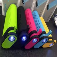 bank card center - 5 in Bluetooth Speaker Power Bank TG06 Mini Portable Handfree mAh Phone Charger with LED Flashlight Stereo MP3 Player TF FM Torch