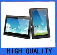 3g gps 7inch tablet pc - hot sale Q8 A33 inch Capacitive Screen Quad Core Android Tablet Pc Dual Camera MB GB Wife Webcam