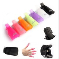 Wholesale 2015 New Fashion Set Reusable Salon DIY Nail Art Tool Acrylic UV Gel Polish Remover Soaker Cleaner Clip Cap Wrap