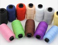 achat en gros de jeans couture-12 couleurs Pack 1 203 Sewing Thread Tex 90 / Billets 30 polyester 170 mètres d'une épaisseur de ligne de couture de textiles de maison de jeans roll