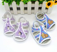 barefoot bears - New Cute Cartoon Bear and Princess Baby Boy or Girl Sandals Newborn Girl Shoes Summer Shoes For Baby Girls Baby Barefoot Sandals