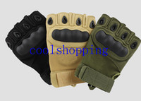Wholesale DHL Freeshipping Outdoor Sports Fingerless Military tactical gloves Hunting Cycling motorcycle Half Finger GlovesLuvas Tactical Mittens
