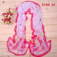 long silk scarf - 2016 round point Gardenia flower chiffon long silk scarves cm DHL X104y Sales Paisley scarf Fashion