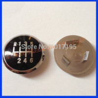 Wholesale Auto Speed Car Shift Gear Knob Emblem Black Caps For VW Passat B5 Accessories M18714