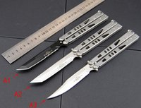 Wholesale New Microtech folding balisong knife Tachyon II Tanto Stainless steel camping microtech hunting flail knives