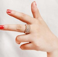 Wholesale fashion europe major finger women s wide ring jewelry