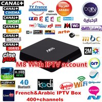 apk mini - 4 Pieces DHL Free French Arabic IPTV M8 Android TV Box Free channels APK Account included wireless mini keyboard