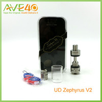 Replaceable 6ml Metal UD Zephyrus V2 Sub Ohm Tank 6ml with Japanese Organic Cotton 1.8ohm OCC Head 0.3 OCC Head