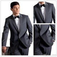 best allure - Custom Made Slim Fit Buttons Steel Grey Allure Men s Suits Groom Tuxedos Notch Lapel Best Man Wedding Suits