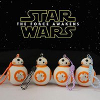 Wholesale Star Wars Toys The Force Awakens Bb8 Droid Robot Pendant Action Figure Pvc Keychains Key Ring Keyring Gifts