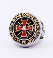 custom design jewelry - unique stainless steel knights templar ring jewelry with high quality custom design cheap