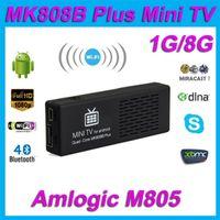 Wholesale Original MK808B Plus Amlogic M805 Android Quad Core TV Stick Dongle H Decode G G HDMI Bluetooth WiFi XBMC Mini PC