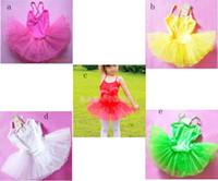 Wholesale kids ballet dresses pageant tutus Spaghetti Strap girls dance party dress ballet tutu for children candy color