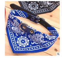 Wholesale Dog Puppy Triangle Bandana Lovely Pet Dog Scarf Collar Adjustable Top Quality Pet Cat Tie Collar Christmas Pet Supplies New