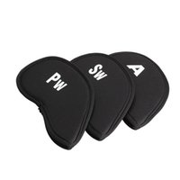 Wholesale 10pcs Neoprene Golf Iron Head Cover Golf Club Putter Head Protector Set Black