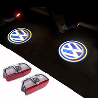Wholesale LED Door Warning Light With VW Logo Projector For VW Golf Jetta MK5 MK6 MK7 CC Tiguan Passat B6 B7 Scirocco With Harness order lt no t
