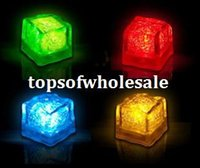acrylic ice cube - 300pcs Christmas Decoration Flash Ice Cube WaterActived Flash Led Light Put Into Water Drink Flash Automatically for Party Wedding Bars