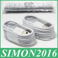 Wholesale 1M FT Micro V8 Sync Data USB Lightning Cable Charging Cords Charger Wire Line for Samsung Galaxy S3 S4 S5 Note3 Note4 HTC LG Android Phone