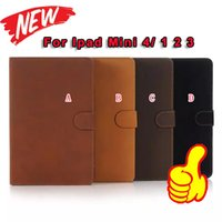 ancient china fashion - Retro Ancient Fuzzy Leather Fold Wallet Stand holder Pouch Skin for Apple Ipad Mini Smart tablet Cover Pouches Case