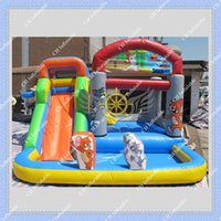 big inflatable slides - Hot Sale Inflatable Combo in DHL Commercial Quality Tom and Jerry Inflatable Bouncer with Slide Inflatable bouncy castle