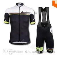 Wholesale Santlnl Team Mercatone Uno Cycling jersey bib kits short sleeve cycle wear sport Ropa Ciclismo bicicletas maillot ciclismo