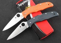 Wholesale Spyderco C10 PGRE tactical knifes VG outdoor survival knives camping folding knife ZDP hunting tools