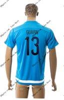2015-16 Colombia # 13 GUARIN azul Soccer formación Jersey Tailandia del fútbol de calidad jerseys del balompié barato personalizada Fútbol Acepte la orden de la mezcla