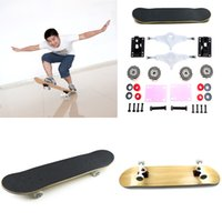 Wholesale 2015 DIY cm Deck Maple Wood Finger Skateboard Set ABEC Stents Bearing Skate Board Outdoor Extreme Sport Adult Novelty Item