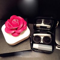 Wholesale New Design Rose Flower Travel Contact Lens Case Eye Care Kit Holder Box Portable styles drop shipping