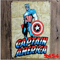 art comic book - Captain America Metal Tin Sign Marvel Comic Book The Avengers Movie Posters Wall Art Hanging Children Room Decor x20cm