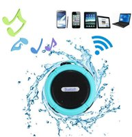Cheap C6 IPX7 Outdoor Sports Shower Portable Waterproof Wireless Bluetooth Speaker Suction Cup Handsfree MIC Voice Box For iphone 6 iPad PC