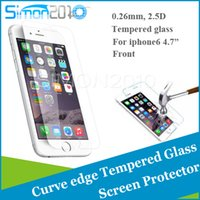 Wholesale For iphone6 quot plus S6 note Tempered Glass Screen Protector mm D Film for iwatch samsung S4 S5 note4