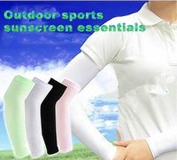 Wholesale New colors sunscreen arm cuff sets of male and female UV riding sports cuff