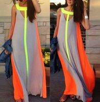 maxi - New Arrivals Womens Ladies Maxi Dress Chiffon Sleeveless Sexy Summer Casual Beach Long Skirts QX187