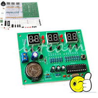Wholesale 6 Digital LED Electronic Module V To V AT89C2051 Clock Parts Components DIY Kit order lt no track