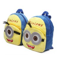 Wholesale 2015 new coming Cartoon cute Small yellow people backpack children backpack Popular backpack