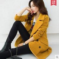 Wholesale new winter woolen coat Korean women loose big yards long section woolen jacket coat Nizi