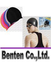 swimming cap - Durable Stylish Sporty Latex Swimming hat flexibility sport Swim Cap Bathing Hat Colors LLFA4977F