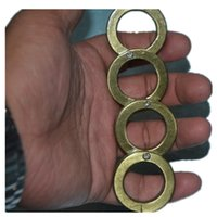 Wholesale 4 finger key Knuckles Punch button man Colors steel fingers Fashion Men Jewelry