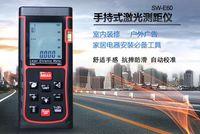 Wholesale multifunctional Digital LCD Hand held Laser Distance M Diameter Meter Measure Finder Length area volume Pythagorean theorem measurement