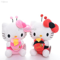 bee holds - Adorable Hello Kitty Bee Dress Hold Candy Jar Plush Japan Anime Stuffed Kitten Cat Toys Dolls Brand New Red Pink