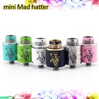 hatter - Authentic Mini Mad Hatter Rebuildable Dripping Atomzier with Wide Bore Drip Tips original RDA by ADVKEN Copper ss Mateial Multicolor