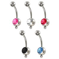 cz gems - 2015 New Gem Belly Rings Navel Piercing Belly Accessories Add Charm CZ Belly Rings DIY Dangle Belly Ring For Women Gifts Jewelry