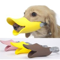 Wholesale Quack Dog Muzzles Duck Bill Pet Muzzles Novelty Cute Duckbilled Dog Muzzle Bark Bite Stopper Anti bite Maske for Dog