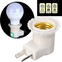 Wholesale Lowest Price E27 Base To AC Power V V LED Light Lamp Bulb Holder Socket Adapter Converter US AU Plug On OFF Switch