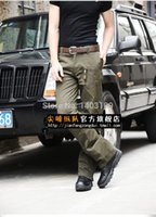 airborne paratrooper - men outdoor leisure trousers Airborne Division paratroopers military green long casual trousers