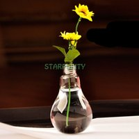 bamboo plant stands - Clear Light Bulb Shape Stand Glass Plant Flower Vase Hydroponic Container Home Office Wedding Decoration