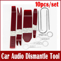 Wholesale 10pcs or Car Audio Dismantle Tool Car Loudspeaker Radio Panel Removal Installer Pry Tools Kit Set